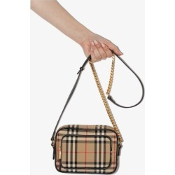 Burberry Womens Neutrals Beige Vintage Check Camera Bag found on Bargain Bro UK from Browns Fashion