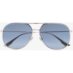 Dior Eyewear Womens Black Blue And Gold Tone Dior By Dior Sunglasses found on Bargain Bro UK from Browns Fashion