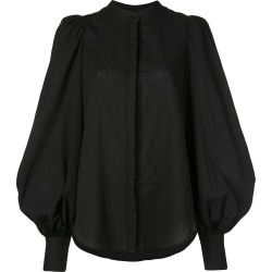 Acler puff sleeve shirt - Black found on MODAPINS from FARFETCH.COM Australia for USD $332.17