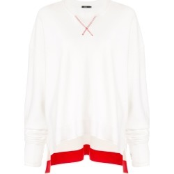 Bassike side split contrast sweatshirt - White found on MODAPINS from FARFETCH.COM Australia for USD $233.68