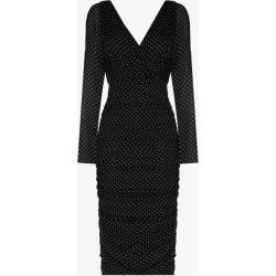 Dolce & Gabbana Womens Black Polka Dot Chiffon Midi Dress found on Bargain Bro UK from Browns Fashion