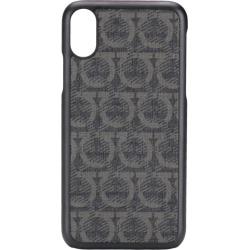 Salvatore Ferragamo logo iPhone X case - Black