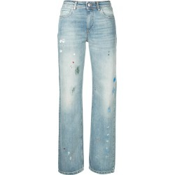 Alexa Chung paint-splatter straigh-leg jeans - Blue found on MODAPINS from FARFETCH.COM Australia for USD $334.68