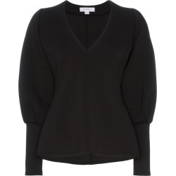 Beaufille V-neck contrast sleeve blouse - Black found on MODAPINS from FarFetch.com - US for USD $161.00