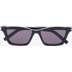Saint Laurent Eyewear Womens Black Dylan Rectangular Sunglasses found on Bargain Bro UK from Browns Fashion