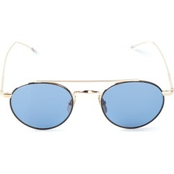 9ebbc43b0817 Thom Browne Eyewear Black Iron   Gold Sunglasses - Metallic found on  MODAPINS from FarFetch.