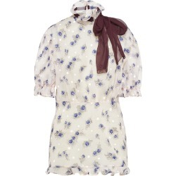 Miu Miu floral ribbon detail blouse - White found on Bargain Bro Philippines from FARFETCH.COM Australia for $1415.93