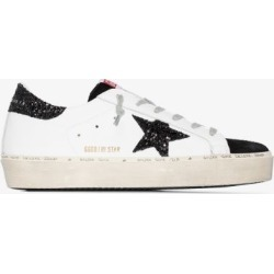 Golden Goose Womens White Hi Star Leather Sneakers found on Bargain Bro UK from Browns Fashion