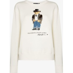 Polo Ralph Lauren Womens White Polo Bear Sweatshirt found on Bargain Bro UK from Browns Fashion