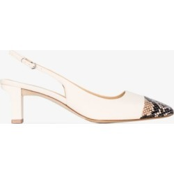 Aeyde Womens Neutrals Cream Drew 55 Snake Effect Slingback Pumps found on MODAPINS from Browns Fashion for USD $313.12