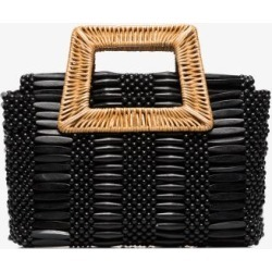 Aranaz black cerise wicker bag found on MODAPINS from Browns Fashion US for USD $185.00