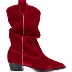 Silvia Tcherassi Tex velvet boots - Red found on Bargain Bro UK from FarFetch.com- UK