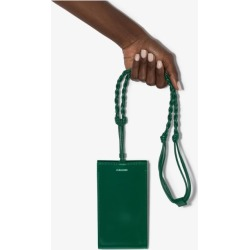 Jil Sander Womens Green Tangle Small Leather Cross Body Bag found on Bargain Bro UK from Browns Fashion