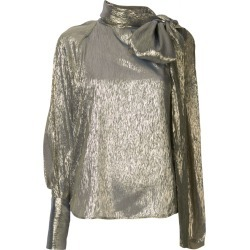 Petar Petrov Bray metallic one sleeve blouse - Gold