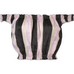 Apiece Apart off-shoulder striped crop top - Pink found on MODAPINS from FarFetch.com- UK for USD $164.92