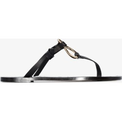 Atp Atelier Black Forna Flat Leather Ring Sandals found on MODAPINS from Browns Fashion for USD $254.84