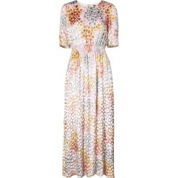 Adam Lippes painted smocked maxi dress - White found on MODAPINS from FarFetch.com - US for USD $1470.00