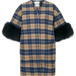 Ava Adore short sleeve plaid coat - Multicolour found on MODAPINS from FarFetch.com - US for USD $1167.00