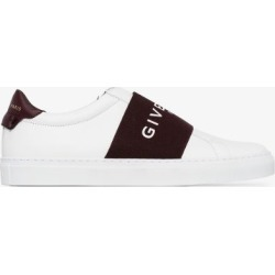 Givenchy White logo webbing leather low top sneakers found on Bargain Bro UK from Browns Fashion