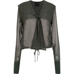 Andrea Bogosian sheer silk shirt - Green found on MODAPINS from FarFetch.com - US for USD $276.00