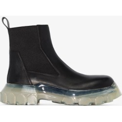 Rick Owens black bozo tractor beetle leather ankle boots found on Bargain Bro UK from Browns Fashion