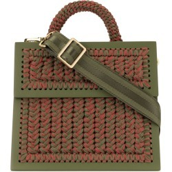 0711 knitted style bag - Green
