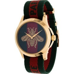 Gucci striped bee watch - Green found on Bargain Bro UK from FarFetch.com- UK