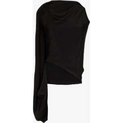 Jw Anderson Womens Black Asymmetric Cowl Neck Top found on Bargain Bro UK from Browns Fashion