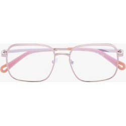 Chloé Eyewear Womens Pink Copper Tone Square Frame Glasses found on Bargain Bro UK from Browns Fashion