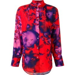 MSGM acid paint style shirt - Red