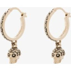 Alexander Mcqueen Womens Metallic Gold-plated Crystal Skull Earrings found on Bargain Bro UK from Browns Fashion