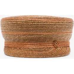 Maison Michel Womens Brown Abby Straw Baker Boy Hat found on Bargain Bro UK from Browns Fashion