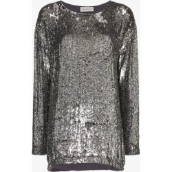 Beau Souci sequin embellished silk top found on MODAPINS from Browns Fashion for USD $1162.09