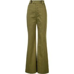 Proenza Schouler Twill High Waisted Pants - Brown found on Bargain Bro UK from FarFetch.com- UK