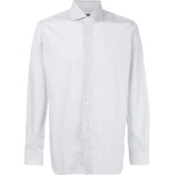 Barba embroidered fitted shirt - Blue found on MODAPINS from FarFetch.com- UK for USD $206.35