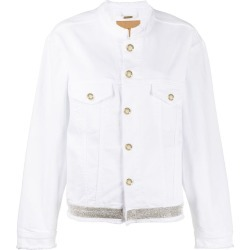 Alexandre Vauthier strass detail denim jacket - White found on MODAPINS from FARFETCH.COM Australia for USD $927.16
