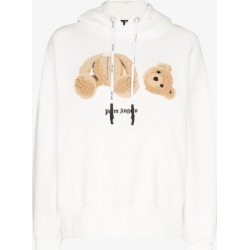 Palm Angels Womens White Teddy Bear Hoodie found on Bargain Bro UK from Browns Fashion