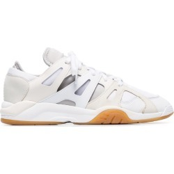 Adidas off white Dimension low top leather sneakers found on Bargain Bro UK from FarFetch.com- UK for $165.35