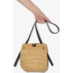 Inès Bressand Womens Neutrals Neutral Pleated Straw Bag found on MODAPINS from Browns Fashion for USD $317.85