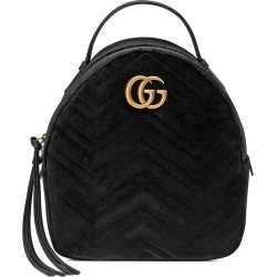 5ef46b306a6 Gucci GG Marmont velvet backpack - Black found on MODAPINS from  FarFetch.com - US