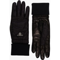 Prada Womens Black Reversible Cashmere And Leather Gloves found on Bargain Bro UK from Browns Fashion