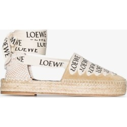 Loewe Womens Neutrals Loewe Womens Neutrals Flt Cnvs Esp W Lgo Lcs found on Bargain Bro UK from Browns Fashion