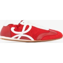 Loewe Womens Red Ballet Runner Suede Sneakers found on Bargain Bro UK from Browns Fashion