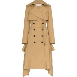 Chloé Asymmetric hem belted wool trench coat - Brown found on Bargain Bro UK from FarFetch.com- UK