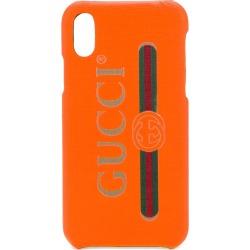 Gucci logo print iPhone X case - Orange