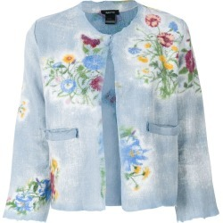Avant Toi floral print cropped jacket - Blue found on MODAPINS from FarFetch.com - US for USD $779.00