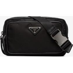 Prada Womens Black Logo Plaque Belt Bag found on Bargain Bro UK from Browns Fashion