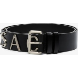 Versace Mens Black Logo Print Leather Belt found on Bargain Bro UK from Browns Fashion
