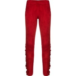 Arma ruffle trim suede leggings - Red found on MODAPINS from FARFETCH.COM Australia for USD $820.41