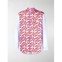 Comme Des Garçons Shirt mixed-print cotton shirt found on MODAPINS from MODES GLOBAL for USD $399.75